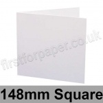 Rapid Recycled, Pre-creased, Single Fold Cards, 300gsm, 148mm Square, White