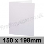 Swift, Pre-creased, Single Fold Cards, 250gsm, 150 x 198mm, White