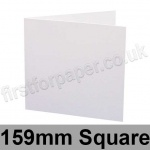 Silky Smooth Inkjet/Laser, Pre-creased, Single Fold Cards, 300gsm, 159mm Square, White