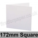 Swift, Pre-creased, Single Fold Cards, 300gsm, 172mm Square, White