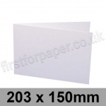 Swift, Pre-creased, Single Fold Cards, 300gsm, 203 x 150mm, White
