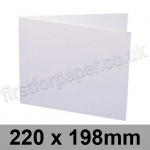 Swift, Pre-creased, Single Fold Cards, 250gsm, 220 x 198mm, White