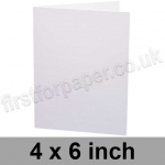 Swift, Pre-creased, Single Fold Cards, 250gsm, 102 x 152mm (4 x 6 inch), White