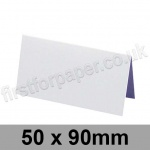 Trident, Single Sided, Semi Gloss, Pre-creased, Place Cards, 275gsm, 50 x 90mm, White