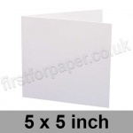 Trident, Single Sided, Semi Gloss, Pre-creased, Single Fold Cards, 275gsm, 127 x 127mm (5 x 5 inch), White