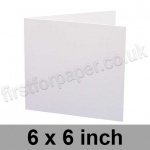 Trident, Single Sided, Semi Gloss, Pre-creased, Single Fold Cards, 275gsm, 152mm (6 inch) Square, White