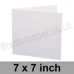 Swift, Pre-creased, Single Fold Cards, 250gsm, 178 x 178mm (7 x 7 inch), White
