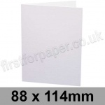 Rapid Recycled, Pre-creased, Single Fold Cards, 300gsm, 88 x 114mm, White