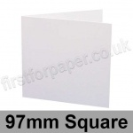 Swift, Pre-creased, Single Fold Cards, 250gsm, 97mm Square, White