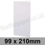 Swift, Pre-creased, Single Fold Cards, 250gsm, 99 x 210mm, White