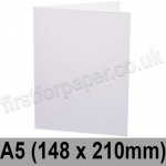 Rapid Recycled, Pre-creased, Single Fold Cards, 300gsm, 148 x 210mm (A5), White
