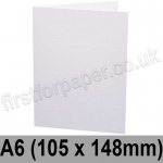 Rapid Recycled, Pre-creased, Single Fold Cards, 300gsm, 105 x 148mm (A6), White