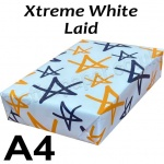 Advocate Laid, 100gsm, A4, Xtreme White