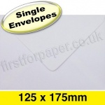 Apollo Greetings Card Envelope, 125 x 175mm, White