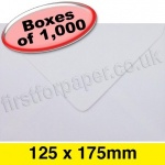 Apollo Greetings Card Envelope, 125 x 175mm, White - 1,000 Envelopes