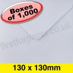 Apollo Greetings Card Envelope, 130 x 130mm, White - 1,000 Envelopes