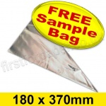 •Sample Conicle Cello Bag, Size 180 x 370mm