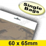 Cello Bag, with Euroslot Header, Size 60 x 65mm