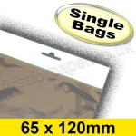 Cello Bag, with Euroslot Header, Size 65 x 120mm