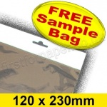 •Sample Cello Bag, with Euroslot Header, Size 120 x 230mm