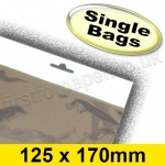 Cello Bag, with Euroslot Header, Size 125 x 170mm