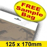 •Sample Cello Bag, with Euroslot Header, Size 125 x 170mm