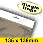 Cello Bag, with Euroslot Header, Size 135 x 138mm