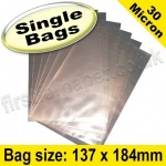 Cello Bag, with plain flaps, Size 137 x 184mm