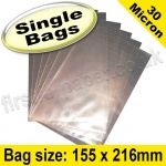 Cello Bag, with plain flaps, Size 155 x 216mm