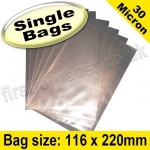 Cello Bag, with plain flaps, Size 116 x 220mm