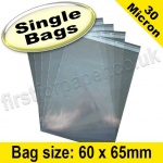 Cello Bag, with re-seal flaps, Size 60 x 65mm