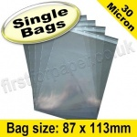 Cello Bag, with re-seal flaps, Size 87 x 113mm