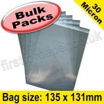 Cello Bag, with re-seal flaps, Size 135 x 131mm - 1,000 pack