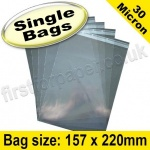 Cello Bag, with re-seal flaps, Size 157 x 220mm
