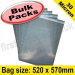 Cello Bag, with re-seal flaps, Size 520 x 570mm - 1,000 pack