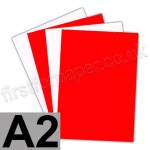 Centura Neon, Dayglo Fluorescent Paper, 95gsm, A2, Red
