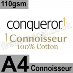 Conqueror Connoisseur, Watermarked, 110gsm, A4, Soft White - 2,000 sheets
