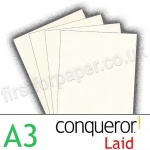 Conqueror Textured Laid, 300gsm, A3, Oyster