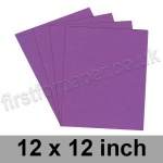 Colorset Recycled Card, 350gsm, 305 x 305mm (12 x 12 inch), Amethyst