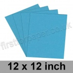 Colorset Recycled Card, 350gsm, 305 x 305mm (12 x 12 inch), Aquamarine