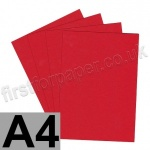 Colorset Recycled Card, 270gsm,  A4, Bright Red
