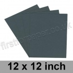 Colorset Recycled Paper, 120gsm, 305 x 305mm (12 x 12 inch), Dark Grey