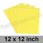 Colorset Recycled Paper, 120gsm, 305 x 305mm (12 x 12 inch), Lemon