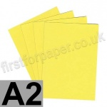 Colorset Recycled Card, 350gsm, A2, Lemon
