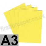 Colorset Recycled Card, 350gsm,  A3, Lemon