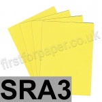 Colorset Recycled Card, 350gsm,  SRA3, Lemon