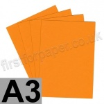 Colorset Recycled Card, 350gsm,  A3, Mango