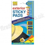 Exterior Sticky Pads, Pack of 80