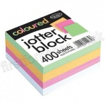 Coloured Jotter Block, 400 sheets