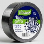 Cloth Tape, Black Heavy Duty, 50mm X 50m